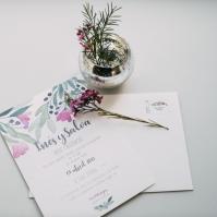 invitaciones de boda personalizadas, papelería con acuarelas pintadas a mano, wedding stationery