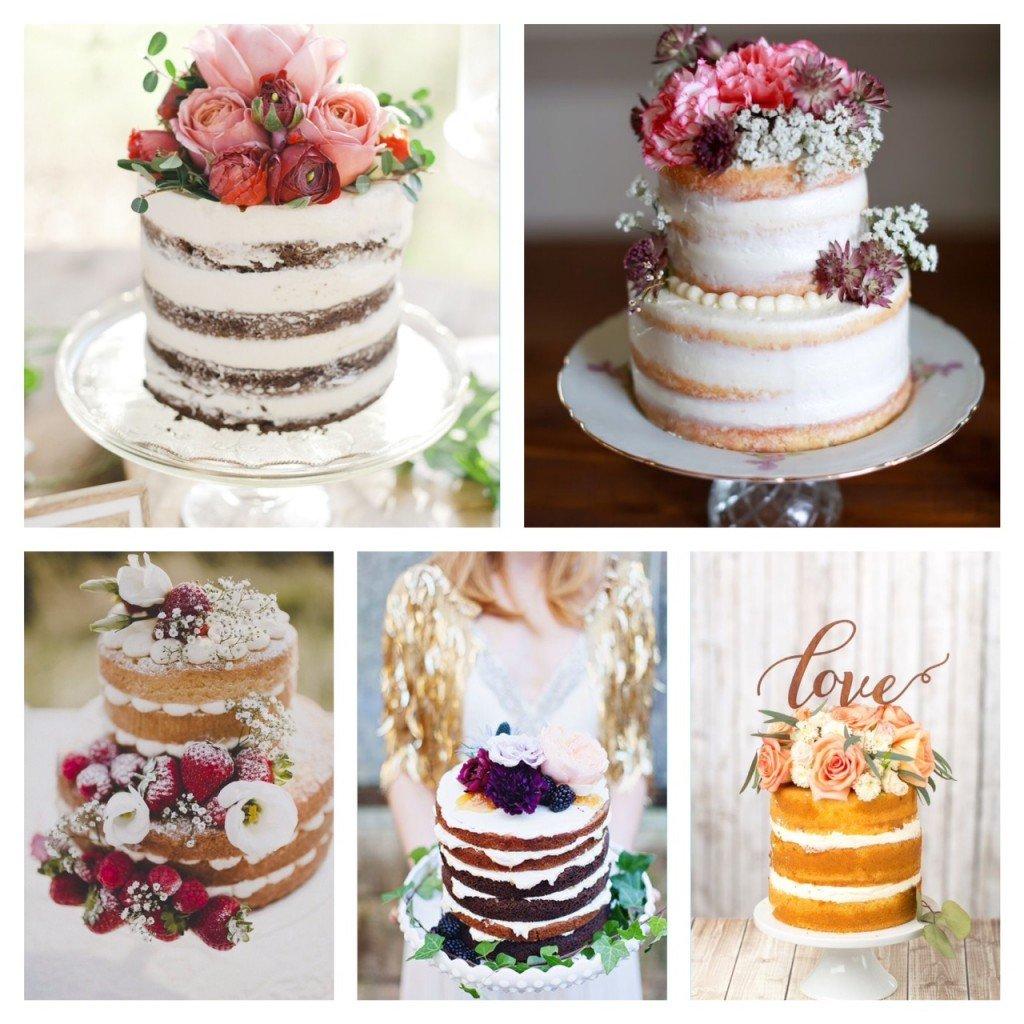 Tarta de bodas, tendencia tartas de boda 2015, naked cakes, tartas desnuas