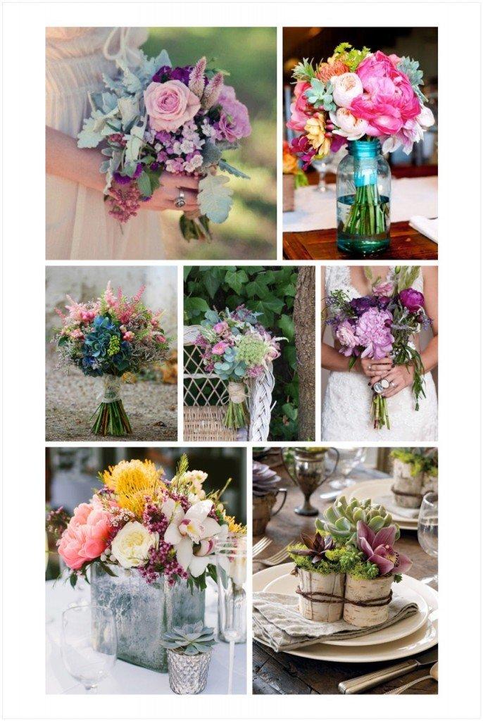 ramos de novia silvestres, tendencia ramos novia 2015, decoración bodas flores silvestres