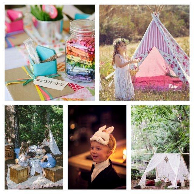 niños en las bodas, diversión para los niños en las bodas, tipis niños bodas