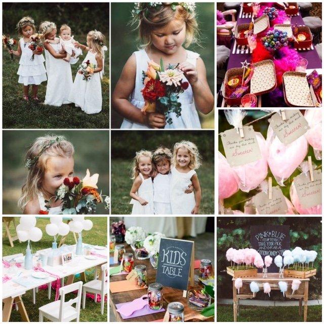 niños en las bodas