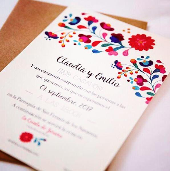 invitaciones de boda personalizadas a acuarelas, invitaciones mexicanas
