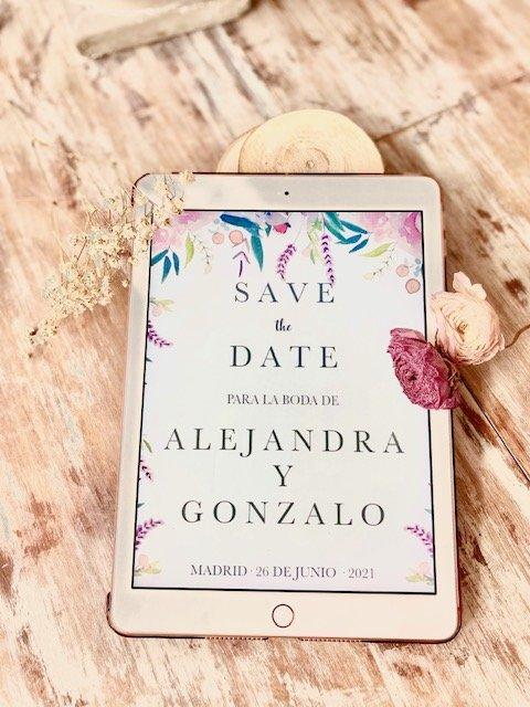 Save the date digital para bodas en tiempos del coronavirus
