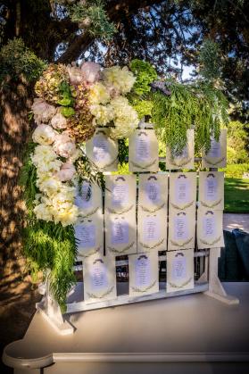 Cartelería mesas boda