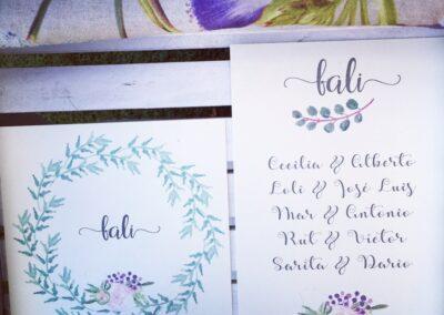 Papelería para boda - Mesa