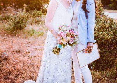 Wedding planner de boda con novia